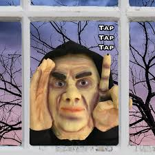 Halloween Head In A Jar Amazon Com Halloween Decoration Scary Peeper Tapping Peeper
