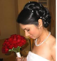 bridal back hairstyle wedding hairstyles ideas small bun classic black wedding updo