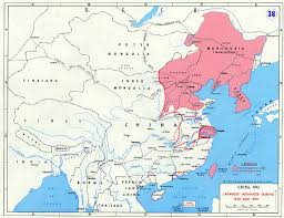 Blank China Map by Second Sinojapanese War Wikipedia Historical Maps Of China 16
