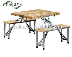 Wooden Folding Picnic Table Outdoor Wooden Folding Picnic Table Chairs Family Furniture Buy