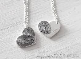 personalized necklaces for actual fingerprint bar necklace personalized fingerprint