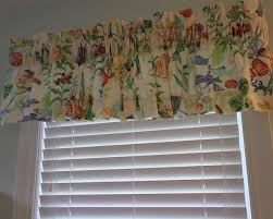 White Valance Brightly Colored Fish On Cotton Fabric Lovely Window Valance