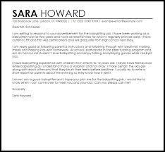 sample cover letter for a babysitting job livecareer