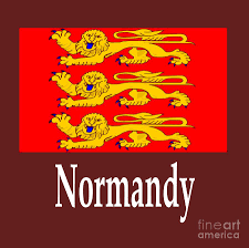 normandy france flag and name digital art by frederick holiday