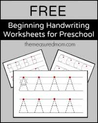 free printable handwriting worksheets for preschool u0026 kindergarten