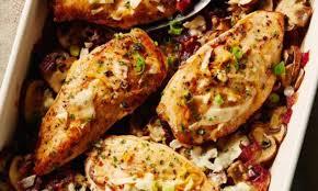 cuisiner poulet au four recette simple de poulet aux chignons au vin blanc et au citron