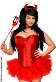Size Burlesque Halloween Costumes Size 4 Pc Glitter Devil Costume Size Costumes