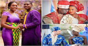 tenue africaine pour mariage mariage africain couples mariés en tenue traditionnelle