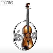 tooarts metal wall sculpture violin hanging ornament home decor wall