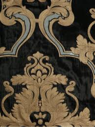 Black And Gold Damask Curtains by Hebe Regal Floral Damask Versatile Pleat Velvet Curtains
