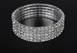 Wrist Corsage Bracelet Rhinestone Stretch Bracelet Add Glitz To A Wrist Corsage
