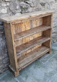 Solid Wood Bookcase Handmade Solid Wood Bookcase Reclaimed Wood Shelves Rustic