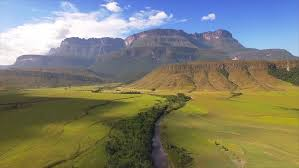 Table Top Mountain by Aerial View Of The Auyan Tepui Table Top Mountain La Gran Sabana
