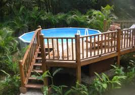 Above Ground Pool Patio Ideas 31 Uniquely Decorative Above Ground Pool Landscaping Ideas