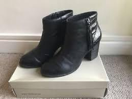 boots uk dune dune black leather ankle boots uk 8 ebay
