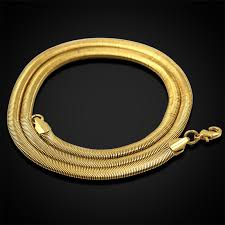 new arrival fashion style gold plated alloy snake shape wholesale necklace men vintage jewelry collier brand herringbone