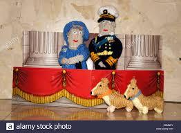 hrh queen elizabeth prince phillip and corgi u0027s knitted figures