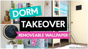 dorm takeover how to apply removable wallpaper youtube