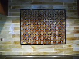 kitchen backsplash medallion stained glass mosaic tile kitchen backsplash with fused glass