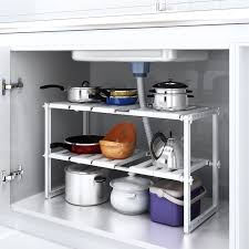 Under The Kitchen Sink Storage Under Sink Storage Home U0026 Kitchen Amazon Co Uk