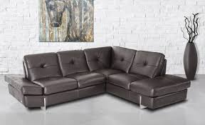 Limo Sectional Sofa In Brown Full Leather By Esf Wsleeper Ftfpgh - Full leather sofas