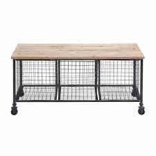 industrial storage bench industrial finish storage bench with 3 wire baskets free