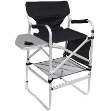 Folding Directors Chair With Side Table Bar Height Director Chair With Folding Side Table