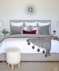 neutral colored bedding neutral gray and white bedroom geometric wallpaper gray
