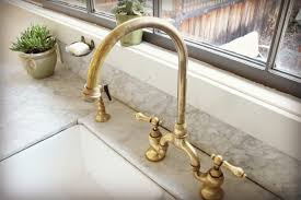 brass kitchen faucets unlacquered brass kitchen faucet logischo
