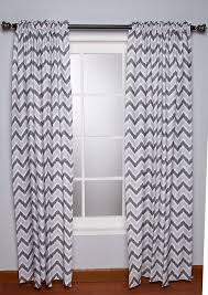 Baby Curtains For Nursery by Amazon Com Ikat Zigzag Grey Curtain Panel Baby