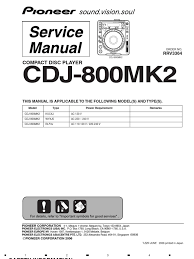 pioneer cdj 800mk2 service manual electrical connector laser
