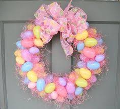 Cheap Easter Decorations Diy by Easter Wreath Tutorial Using Plastic Eggs And Easter Grass