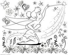 tinkerbell coloring pages tinkerbell coloring pages pinterest