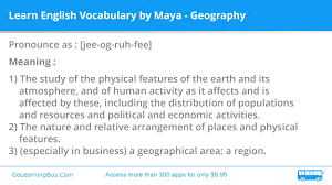 learn english vocabulary by maya geography youtube