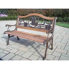 Aluminum Park Benches Bench Oakland Living God Bless America Wood And Aluminum Park