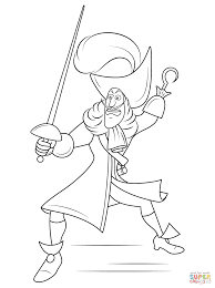 disney captain hook coloring page free printable coloring pages
