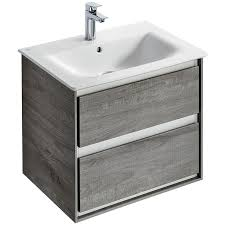 2 Basin Vanity Units Ideal Standard Concept Air 600mm Wall Hung 2 Drawers Vanity Unit