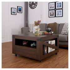 Inside Homes Carmelo Crate Inspired Coffee Table With Magazine Shelf Vintage