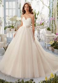 wedding dress no asymmetrically draped bodice with shoestring straps onto tulle