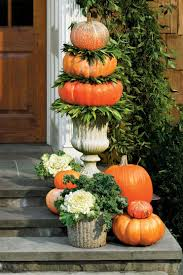 pumpkin topiary fall decorating ideas southern living