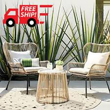 Rattan Patio Furniture Sets Outdoor 3pc Patio Furniture Set Latigo Rattan Patio Chat Set