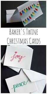 Christmas Cards Crafts To Make Baker U0027s Twine Christmas Cards Here Are More Than 30 Christmas