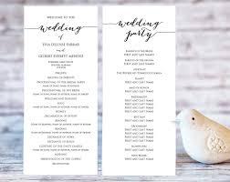 wedding bulletin templates wedding program templates wedding templates and printables