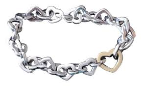 tiffany silver bracelet with heart images Tiffany co sterling silver and 18k gold interlocking heart jpg