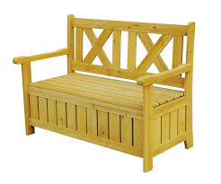 wood garden bench with storage home outdoor decoration