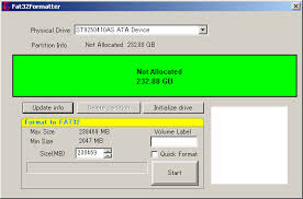 format hard disk tool how to format a large hard drive with fat or fat32