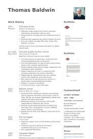 Delivery Driver Resume Examples by Driver Resume Samples Visualcv Resume Samples Database