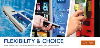 crane cashless web mobile vending management systems