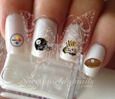 steelers nails nail art pinterest