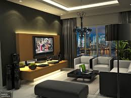 living room interior design with lcd tv livingroom home